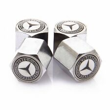 Mercedes Benz Dust Caps Anti Theft Car Wheel Tyre Valve Covers Set of  4