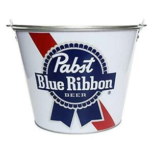 Pabst Blue Ribbon PBR Beer White Bucket