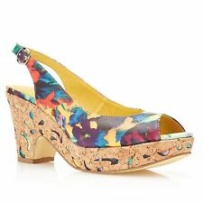 Women's Floral Leather Heels