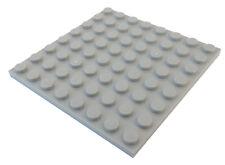 Lego 2 Stück Platte 8x8 in hellgrau (light bluish gray) 41539 Neu Platten City