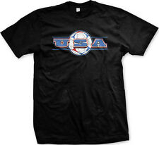 USA Soccer Ball - American Pride Red White and Blue Mens T-shirt