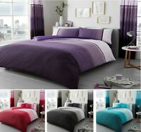 Luxuries URBAN-OMBRE Reversable Duvet Quilt Cover+Pillow Case Bedding  All Sizes