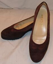 Brunate Heels Pumps Womens Brown Suede Leather Shoes 39 1/2