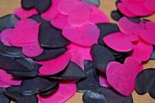 Hot Pink/Cerise and Black Wedding Confetti - Love Hearts Bio Degradable - WILD