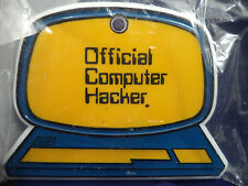 New Vintage 1984 OFFICAL COMPUTER HACKER Door Plaque Fridge Magnet Office Geek