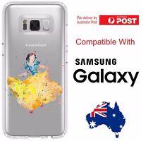 Samsung Silicone Cover Case Disney Splatter Paint Basic Princess Art - Coverlads