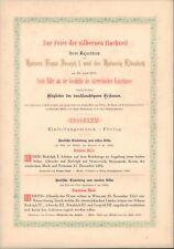 Kaiser Franz Josef + Kaiserin Elisabeth - silberne Hochzeit 1879 #27773