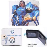 USA NEW Overwatch Pharah Blue PU Leather Bi Fold Wallet