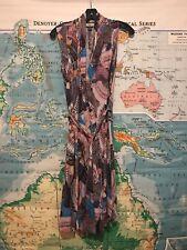 ISSA LONDON WRAP DRESS GEOMETRIC SZ US 6 UK 10 GARMENTORY