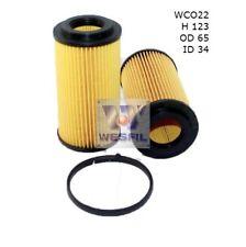 WESFIL OIL FILTER FOR Volkswagen Scirocco 2.0L TSi R 2011-on WCO22