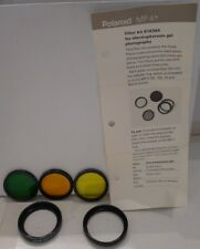 Polaroid MP-4 Tiffen Filter Kit 616364 & Instructions for 135 105 75 50mm lenses