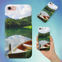 CLOUDS CONIFERS FIR TREES FOREST HARD BACK CASE FOR APPLE IPHONE PHONE