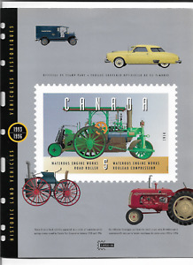 1996 CANADA - HISTORIC LAND VEHICLES - CAPEX '96 BOOKLET WITH 25 VALUES - MNH.