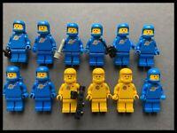 Vintage Lego Space Classic Astronaut MiniFigure Blue  + Yellow Colours Available