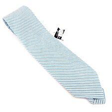 Just Madras Blue Chappy Seersucker Boys Striped Tie MSRP $48 American Made USA