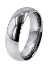 SAVE $1000.- LADY'S DOMED SOLID PLATINUM POLISH 5MM WEDDING BAND RING NEW SIZE 4