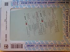 Microscale Decal N  #60-4309 Data Freight Car Builders Plates & Logos Dates:1977