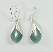 925 sterling silver serpentine edged drop  earrings