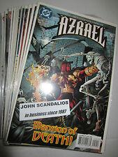 Lot of 21 Dc Comics Azreal #s 1-33 All Unread 1997-2011 new comic books