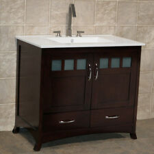 "36"" Bathroom Vanity  36-inch Cabinet with Ceramic Top Sink + Faucet TR1"