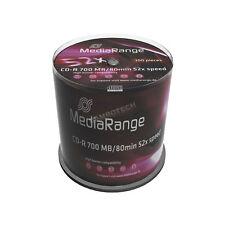 100 MEDIARANGE CD-R 52x 700mb 80 minuti cake 100 cdr cd r mr204