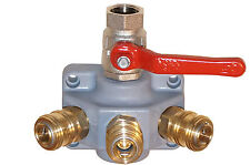 Druckluftverteiler mit 3 Schnellkupplungen und Kugelhahn