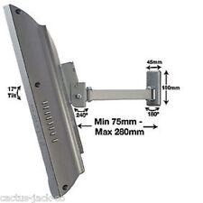 """BT7512 10-23"""" LED pannello LCD TV Singolo Braccio Inclinare Girevole Argento Supporto a parete senza confezione"""