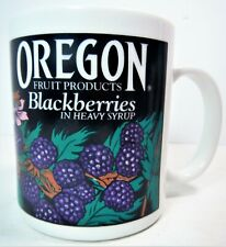 OREGON Fruit Products BLACKBERRIES in Heavy Syrup Ceramic Coffee Mug by Linyi