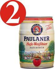 2 x Paulaner Hefe-Weissbier Naturtrüb 5,5 % vol 5 Liter Partyfass 3,24€/L