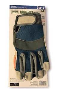 NEW Expert Gardener High Dexterity Performance Gloves w/ Adjustable Wrist Strap