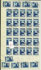 RUCCCP Russian Soviet, ABNAIIOYTA 2PYS Airplanes stamps large block on paper 34