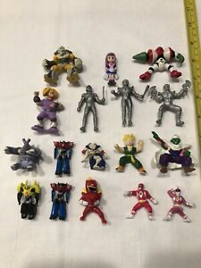 Nice Lot of 17 Anime Mini Action Figures Power Rangers Ultra man & More