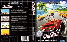 Outrun Sega Mega Drive PAL Replacement Box Art Insert Case Cover Repro