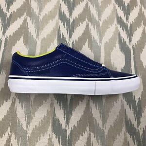 Vans Old Skool Quartersnacks 25 Limited Mens Leather Sneakers Shoes Blue Sz 9.5