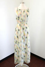 Cupcakes and Cashmere Abstract Print Maxi Dress Size XS Green Yellow Summer
