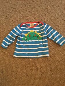 Frugi 0-3months Dinosaur Long Sleve Top Boys Girls.