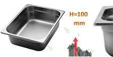 Vaschetta bacinella recipiente AISI 304 acciaio inox per alimenti 32x26 x h10 cm