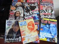 Job Lot 15 Magazines Doctor Who Theme cult times starburst  Dr who magazine