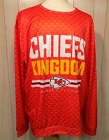 Kansas City Chiefs NFL Team Apparel Men's Shirt Size 2XL Long Sleeves Polyester