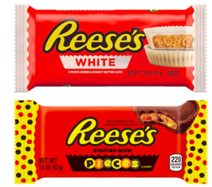 Reese's Peanut Butter Cups White or With Pieces 24 x 39g Best Before 10/2021