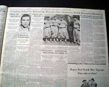 German Fighter MAX SCHMELING Heavyweight Boxing Match w/ Photo 1935 Newspaper