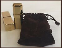 Ralph Lauren Gold Tone .17 Oz Spray Perfume & Mini Vial Bottle Cover SET OF 2!