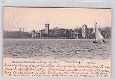 schöne Foto AK 1905@Hamburg - Uhlenhorst Fährhaus, Boote @ versendet in die USA