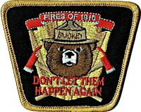 ⫸ Official Smokey Bear FIRES OF 1910 US Forest Service Embroidered Patch NEW S15