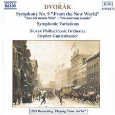 DVORAK:  SYMPHONY No 9 + SYMPHONIC VARIATIONS / STEPHEN GUNZENHAUSER - NAXOS CD