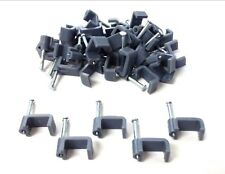 Flat cable clips. 2.5mm2. Grey. Fixing nail. Twin&Earth. Pack of 40 *Top Quality