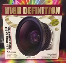 0.7x Raynox HD-7000 Pro HD WIDE ANGLE LENS 58mm ->CANON 28-80 28-90 28-105 18-55