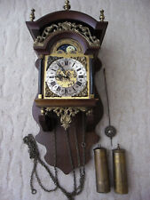 Große Zaanse Clock, Friesenuhr mit Mondphase, Wanduhr, Pendeluhr