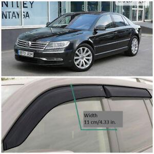 VE24902 Window Visors Sun Guard Vent Wide Deflectors For VW Phaeton Sd 2002-2016