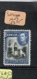 BERMUDA (P2208B)  KGVI  3D LIGHTHOUSE    SG 114A    MOG